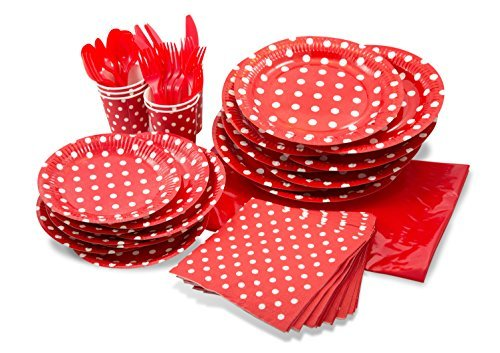 LolliZ® Party Pack For 8, Red/Polka Dots Design