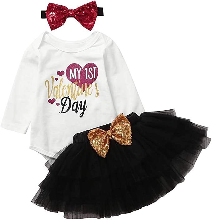 Pelele festivo para niña + falda de tutú con estrellas doradas + ...