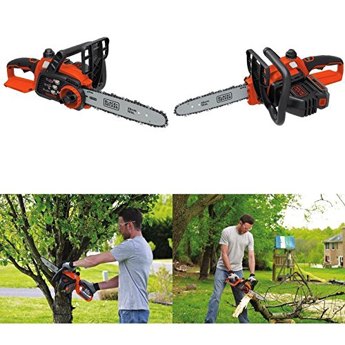 GOOD MEDIA Electric Chainsaw Cordless Battery Powered Operated Saw Wood Log Cut Yard Tool ✅ by GOOD MEDIA