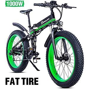 51RpUGL%2Bk3L. SS300 Bicicletta elettrica da 1000w 48v, scooter pieghevole per pneumatici grassi Batteria per adulti bicicletta elettrica…