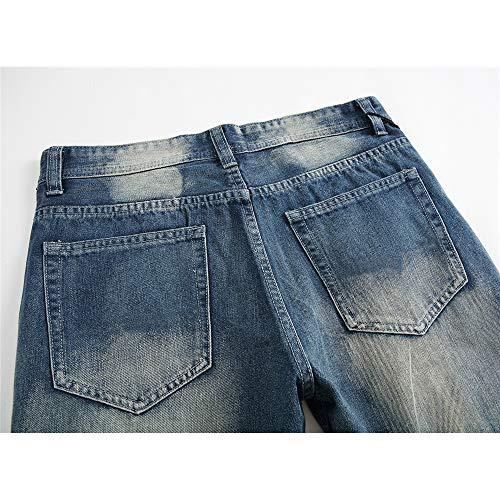 Hommes Décontracté Très Fit Foncé Jolis Taille Jeans Bleu 31 La Pantalon Mode Pour couleur Foncé À Slim vnqTx5aT0