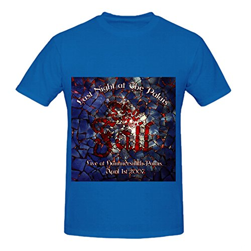 The Fall Last Night At The Palais Jazz Album Mens Crew Neck Design Tee Shirts Blue
