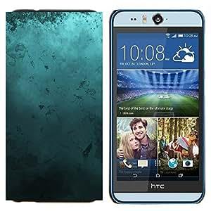 YiPhone /// Prima de resorte delgada de la cubierta del caso de Shell Armor - Arte Moderno Random azul turquesa del océano - HTC Desire Eye M910x