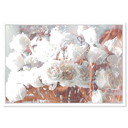 The Oliver Gal Artist Co. Rose Feast' Framed Abstract Wall Decor, 36'' x 24'', Gold by The Oliver Gal Artist Co.