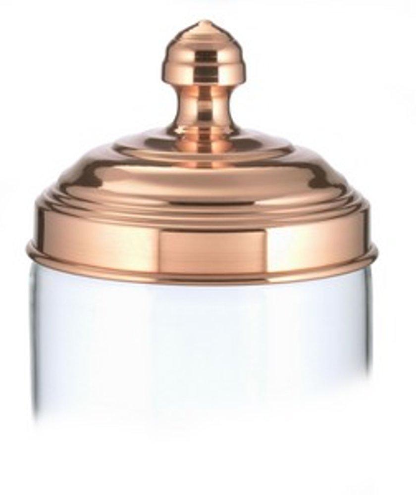 Taglia Unica ITALO OTTINETTI Barattolo di Vetro in Rame Lucido Vendita Groso 0.75/Litri Colore Metallizzato