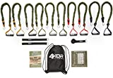 Resistance Band Set by 4KOR Fitness, Strength and Performance System (5 Levels w/Rack Straps & Door Anchor) For Sale