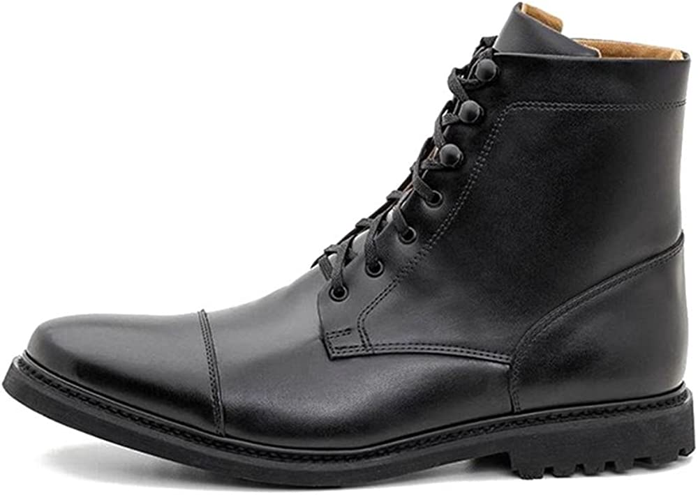 Vegan Work Boot-Vegan Leather