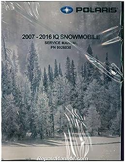 9926030 2007 2016 polaris iq snowmobile service manual manufacturer rh amazon com 2010 polaris iq service manual polaris iq 440 service manual