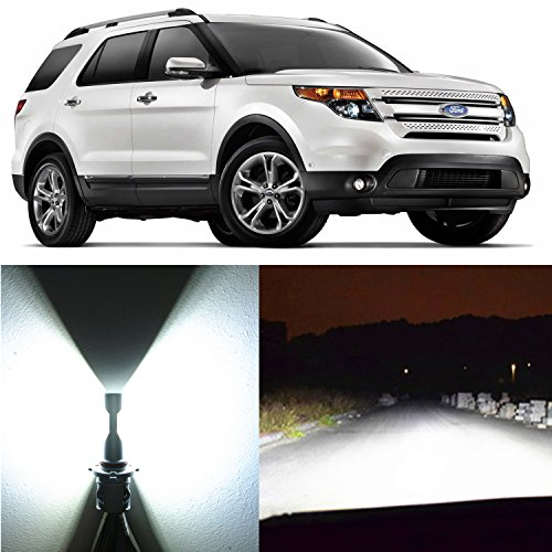 - Alla Lighting 2pcs Super Bright 9005 HB3 9005LL White LED Bulbs High Beam Headlight Conversion Kits Replacement for 2002~2005 and 2011~2017 Ford Explorer with Halogen Capsule Headlamp Only