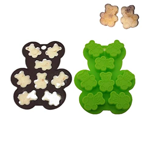 keepingcoox 2 unidades oso de peluche Hard Candy molde de silicona | Fondant y Pasta de