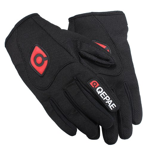 Size: XL -Motorcycle Motorbike Sports Full Finger Comfy Gloves Black Breathable