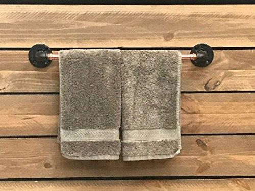 Piping Hot Art Works Copper Towel Bar - Copper Bathroom/Kitchen Accessories - Outdoor Towel Rack for Pool (18.0) by Piping Hot Art Works (Image #2)