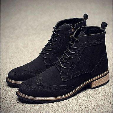 La mujer Sneakers Confort Suede resorte plano gris negro rojo casual Gray