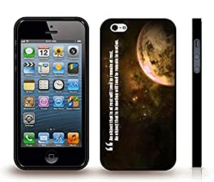 """iStar Cases? iPhone 5/5S Case with """"A mother's hug lasts long after she lets go"""" Inspirational, Lioness and Cub Design , Snap-on Cover, Hard Carrying Case (White) by ruishername"""