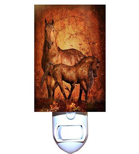 Autumn Horse and Foal Decorative Night Light