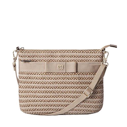 Eric Javits Designer Women's Luxury Handbag Dame Pouch Bark by Eric Javits