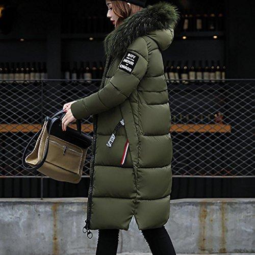 Internet mujeres Lammy chaqueta verde abrigo ejercito abrigo Slim Las Down Invierno sólido Escudo más Casual grueso abrigo 5Ptx7qgwB