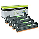 GREENCYCLE 4 Pack TN-1000 High Yield Black Toner Cartridge Compatible For Brother TN1000 MFC-1815 MFC-1815R Laser Printer