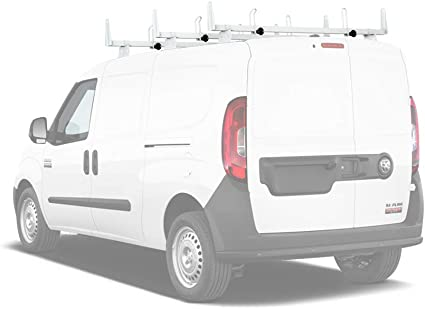 AA-Racks Model X202-PR RAM ProMaster 2013-On Heavy Guage Steel 3 Bar Van Roof Rack System w//Ladder Stopper Black