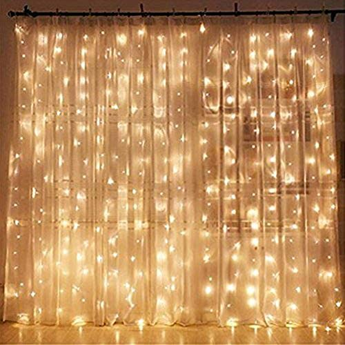 Twinkle Star 300 LED Window Curtain String Light Wedding Party Home Garden Bedroom Outdoor Indoor