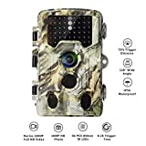 AlfaView Trail Camera 16MP 1080P HD Game & Hunting Camera with 120°Wide Angle Lens Low Glow Night Vision Up to 75ft 0.2s Trigger Time Motion Activated Waterproof Wildlife Hunting Camera