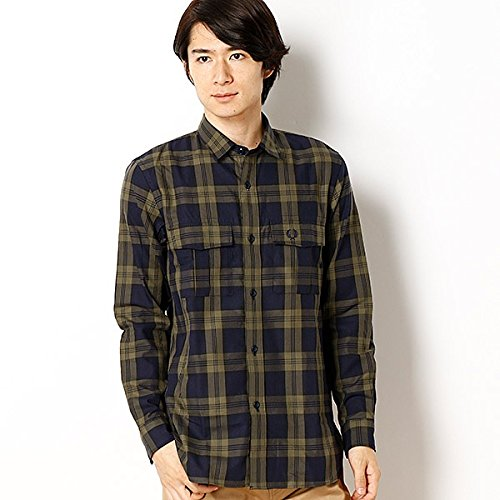 フレッドペリー(メンズ)(FRED PERRY) 【17AW】TARTAN MILITARY SHIRT B074NCTCKP M|70ネイビー 70ネイビー M