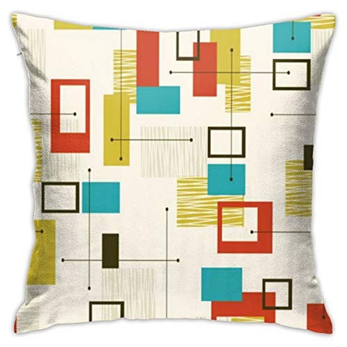 Mid Century Modern Pillows Case Soft Throw Pillow Double-Sided Digital Printing Couch Pillowcase Square 45cm45cm