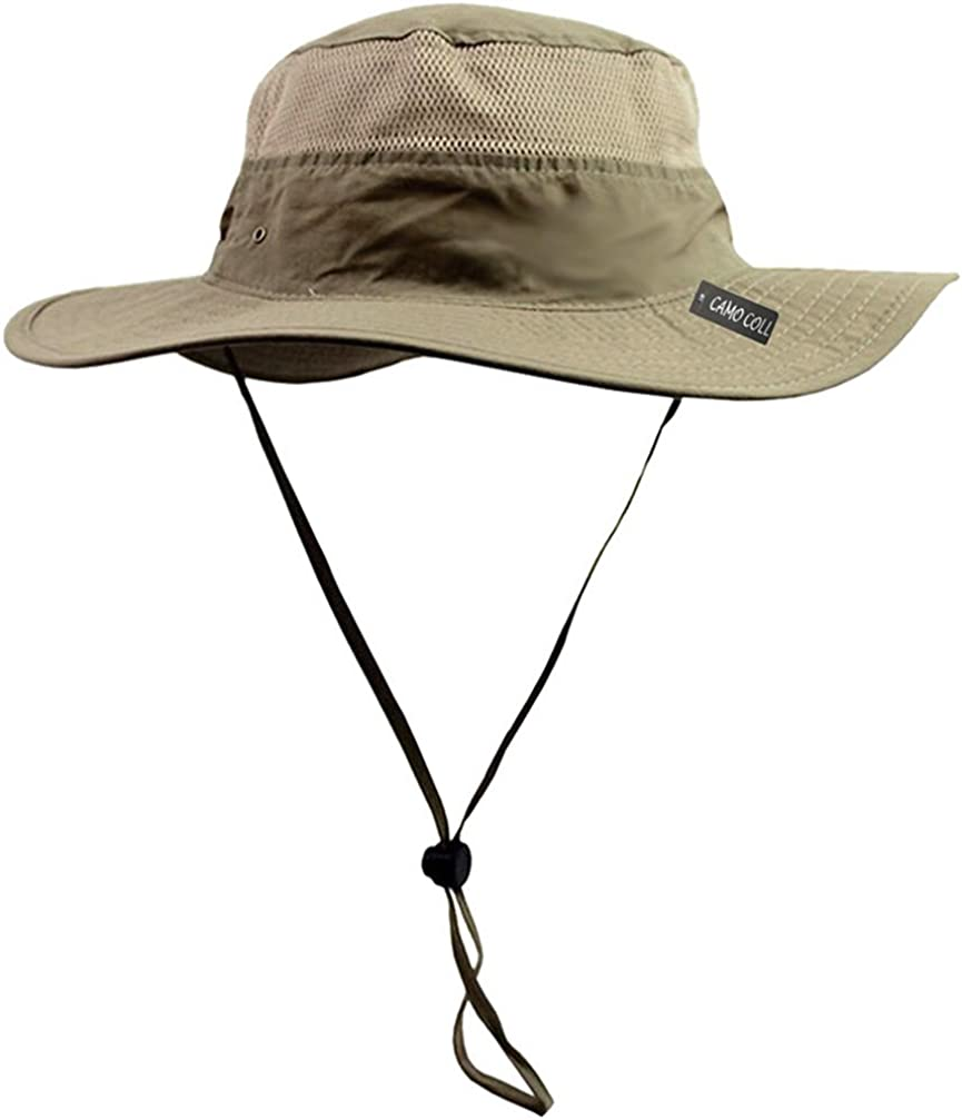 CAMO COLL Outdoor UPF 50+ Boonie Hat Summer Sun Caps (One Size, Dark Khaki) at  Men's Clothing store