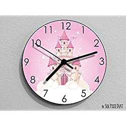 Cinderella Castle Wall Clock - Kids Nursery Room, Teens Room, Baby Room - Wall Clock