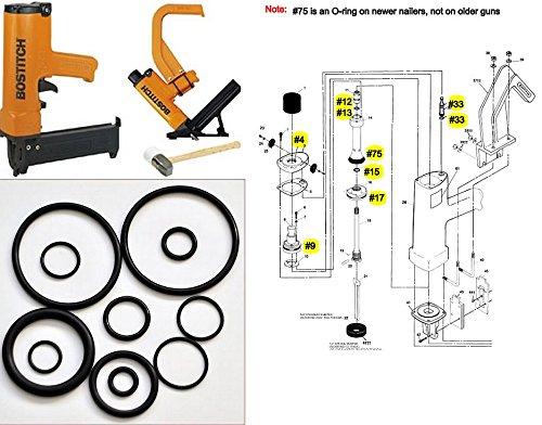 Tool Repair Kit for MIII MIIIFN MIIIFS Bostitch Hardwood Floor Nailer O-Ring Kit MIIIFS MIII886 MIII812 - O-ring Nailer