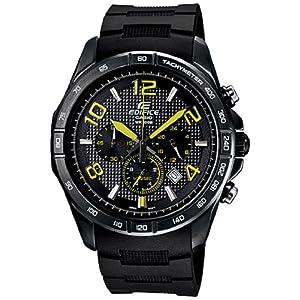 Casio Men's Edifice EFR516PB-1A3V Black Resin Quartz Watch with Black Dial 3