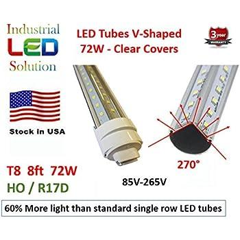 60 More Light 25 Pack Dual V Led 72w 8ft Tube Light