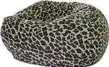 Gold Medal Bean Bags Safari Micro-Fiber Suede Animal Bean Bag, XX-Large, Leopard