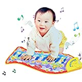 Baby Kid Child Fish Shape Mat Touch Play Musical Singing Piano Game Carpet Mat Educational Toy