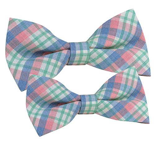 ST34 New Multi-color Plaid Bow tie for men and for boys Dad Son set BB-3016