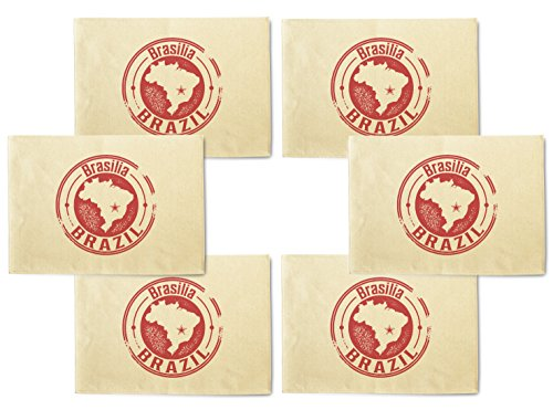 Brasilia Brazil Stamp Printed Canvas Table Mats Placemats 13x19 Inch Set of (Brasilia Table)
