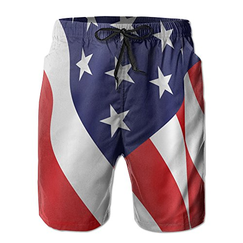 49d94e74c0 American Flag Beach Board Shorts Of Man Swimming Trunks Hipster Shorts In  Summer Father's Day