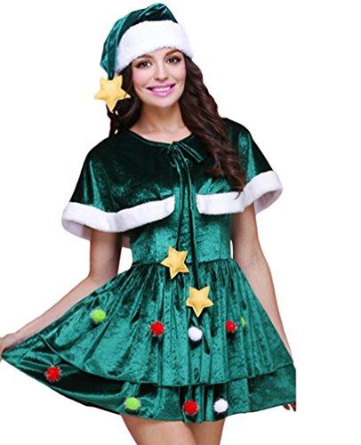 Anguang stili Fantasia Cosplay 1 Costume Albero Donna Vestito Mini Natale Stile Vestito Multi f6prqBwf