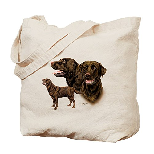 Cafepress–Chocolate Labrador Retriever–Borsa di tela naturale, tessuto in iuta
