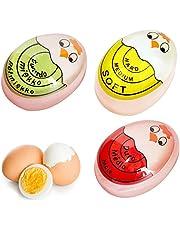 3PCS Egg Timer, Sensitive Color Indicator for Hard and Soft Boiled Eggs (Red + Blue + Green)