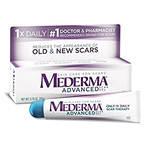 Mederma PrfLdS Advanced Scar Gel Reduces the Appearance of Old & New Scars, 0.7 oz (3 Pack)