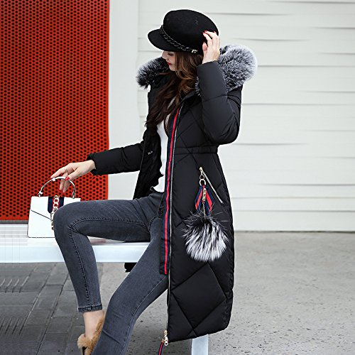 Cotton Coat Code Cotton Algeria Clothing Leisure Xuanku Cotton Winter Long Jacket Big Sau Black Women'S IXOw4