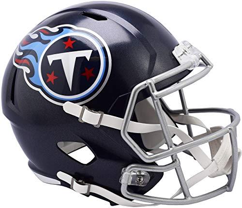 Sports Memorabilia Riddell Tennessee Titans Revolution Speed Full-Size Replica Football Helmet - NFL Replica Helmets (Titans Tennessee Revolution)