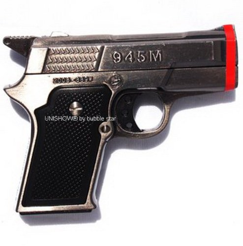 UNISHOW® Gun Pistol Twin Double Torch Jet Lighter Refillable Cigar Cigarette Lighter Color May Vary By Bubble Star (2, ()