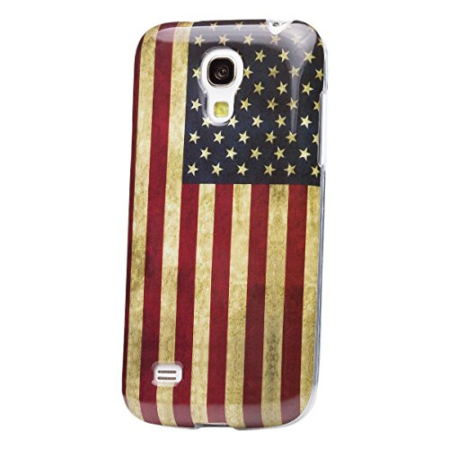 Samsung Galaxy S4 MINI   iCues Full Printing TPU Case USA Vintage   [Screen Protector Included] IMD Pattern Print Cover Women Girl Floral Shell TPU Rubber Silicone - Samsung S4 Mini Case Female