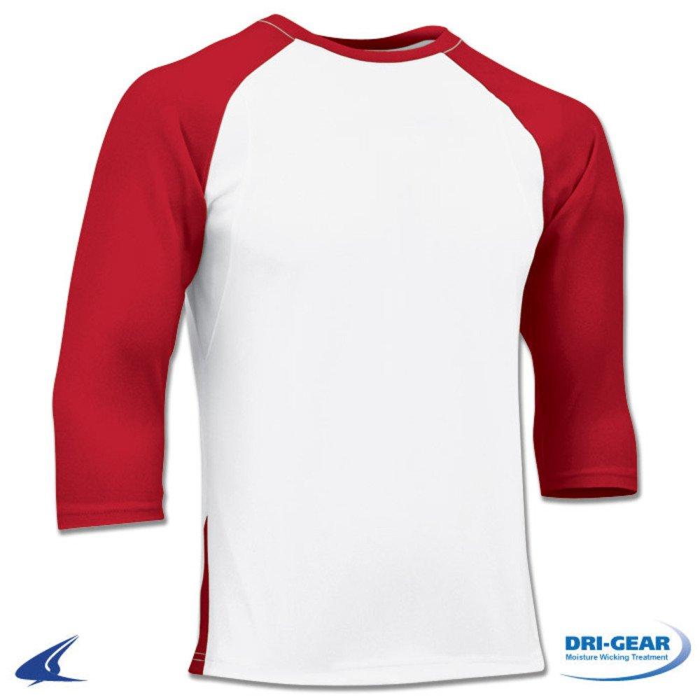 Blackout Tees SHIRT ボーイズ B01N9RFJFQ L White, Scarlet Sleeve White, Scarlet Sleeve L