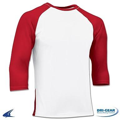 0b6bce72671 Amazon.com  Mens Adult DRI-FIT Polyester 3 4 Sleeve Baseball T-Shirt ...