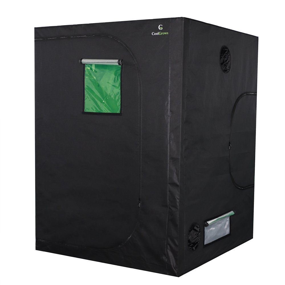 60''x60''x80''Mylar Hydroponic Grow Tent with Obeservation Window and Floor Tray for Indoor Plant Growing 5' x 5' (60''x60''x80'')