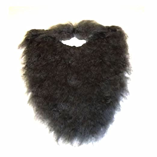 91999b2633b Jacobson Hat Company Fake Beard and Mustache Halloween Costume Accessory- Black-8 quot