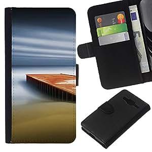 All Phone Most Case / Oferta Especial Cáscara Funda de cuero Monedero Cubierta de proteccion Caso / Wallet Case for Samsung Galaxy Core Prime // Dream Pier